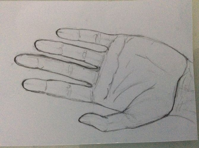 670x500 How To Draw A Hand 14 Steps (With Pictures)