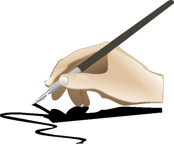 600x499 Drawing Hand Clip Art