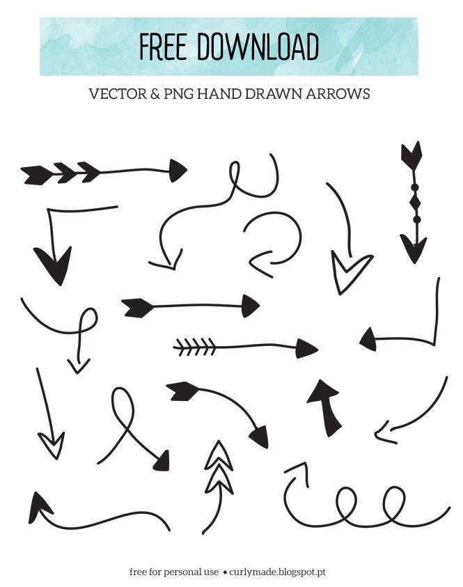 665x843 Free Download Hand Drawn Arrows Hand Drawn, Curly And Arrow