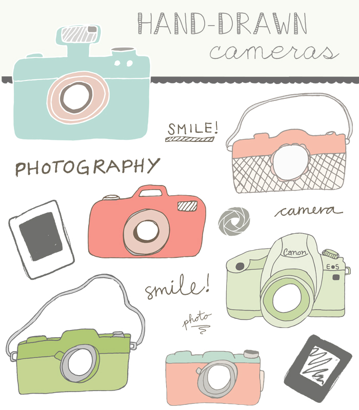 700x800 Hand Drawn Camera Clip Art