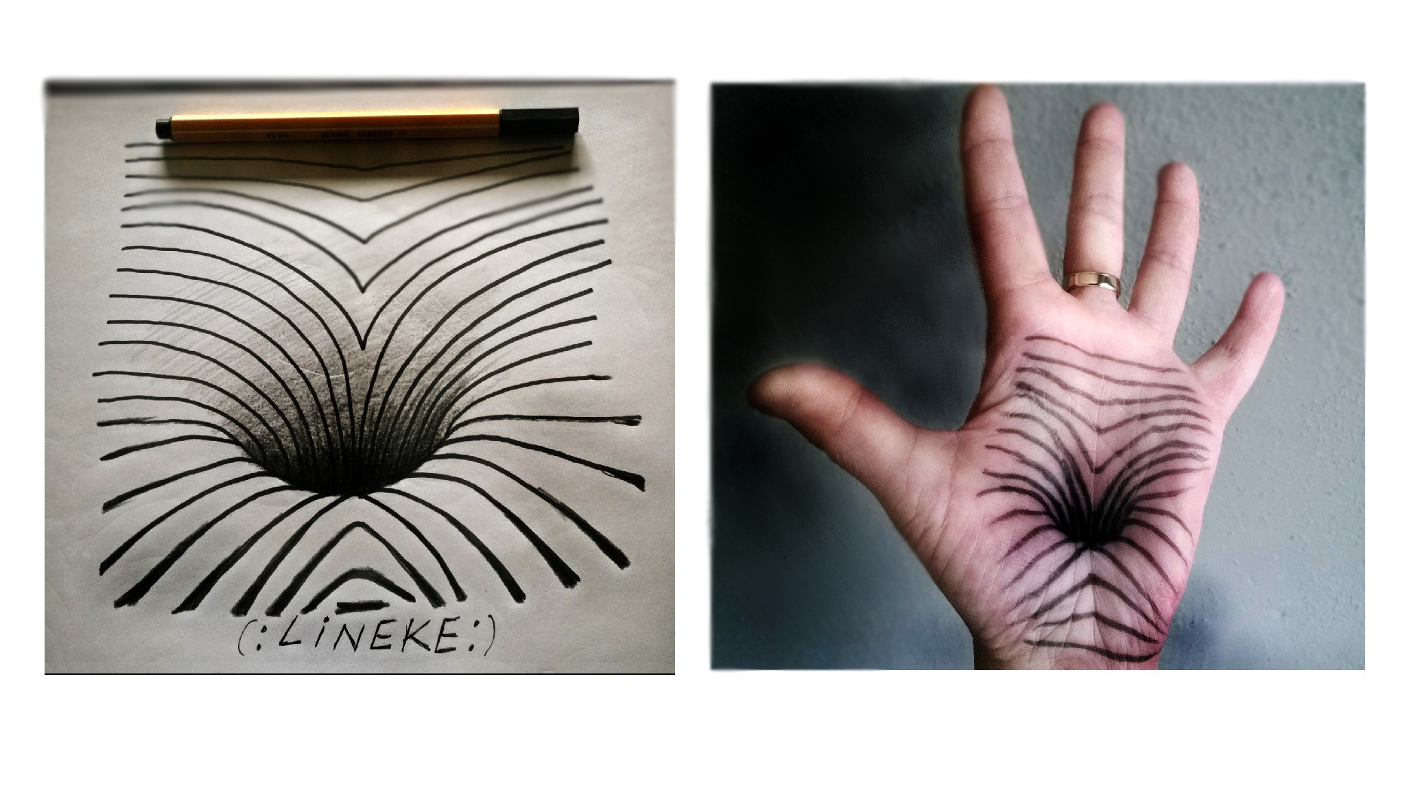 2048x1152 Optical Illusion Hand Drawing Optical Illusion Hole In Hand ) By