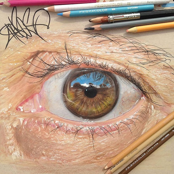 600x600 Can You Believe These Realistic Eyes Were Actually Hand Drawn
