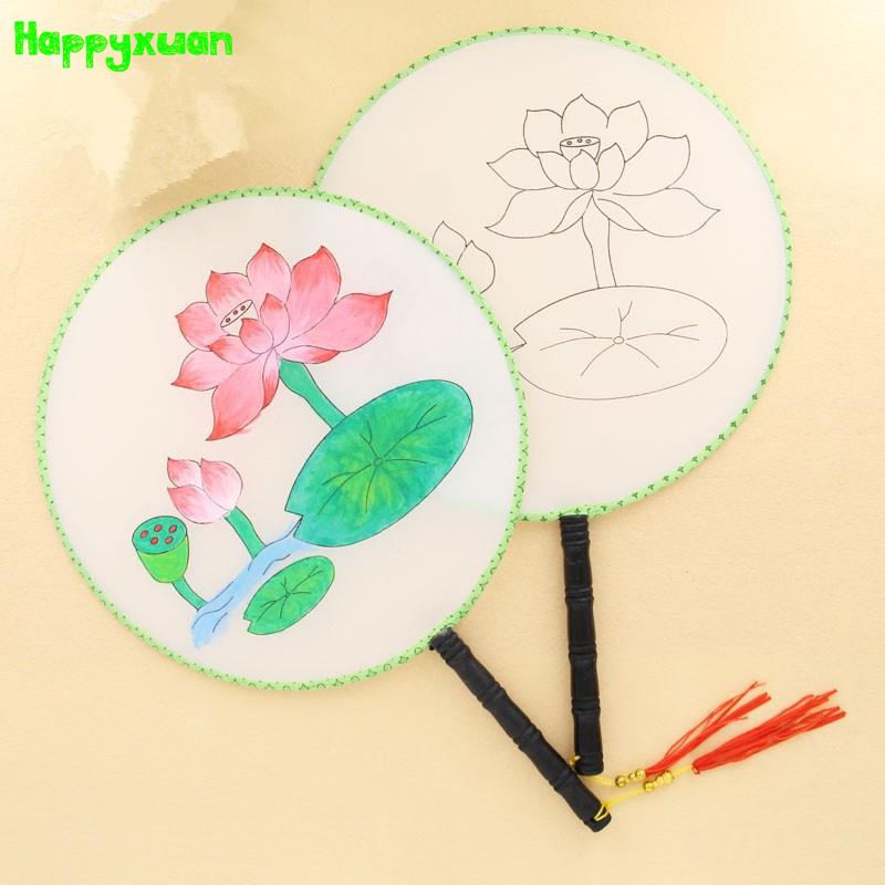 800x800 2018 Happyxuan Diy Paint Chinese Hand Fan With Pictures Preschool