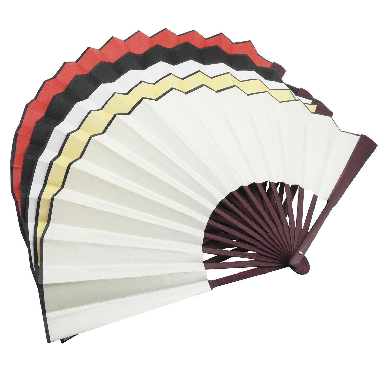 1500x1500 5 Pcs Chinese Nylon Cloth Handheld Folding Hand Fan Drawing