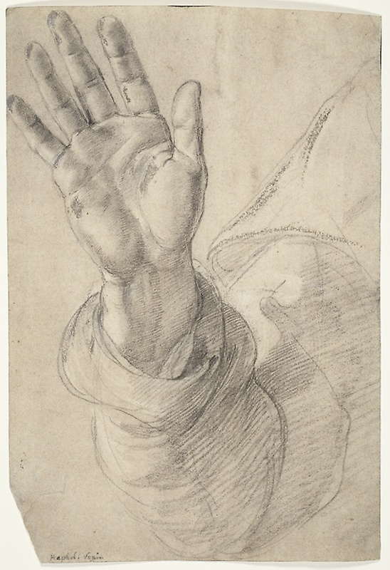 548x800 Upraised Right Hand, With Palm Facing Outward Study For Saint