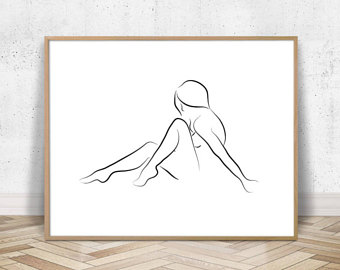 340x270 Minimal Drawing Etsy