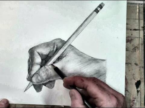 480x360 How To Draw The Hand Step By Step Holding A Pencil