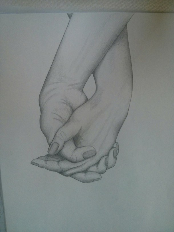 Hand Holding A Pencil Drawing At Getdrawings Com Free For Personal