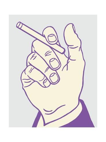 366x488 Hand Holding Cigarette Posters By Pop Ink