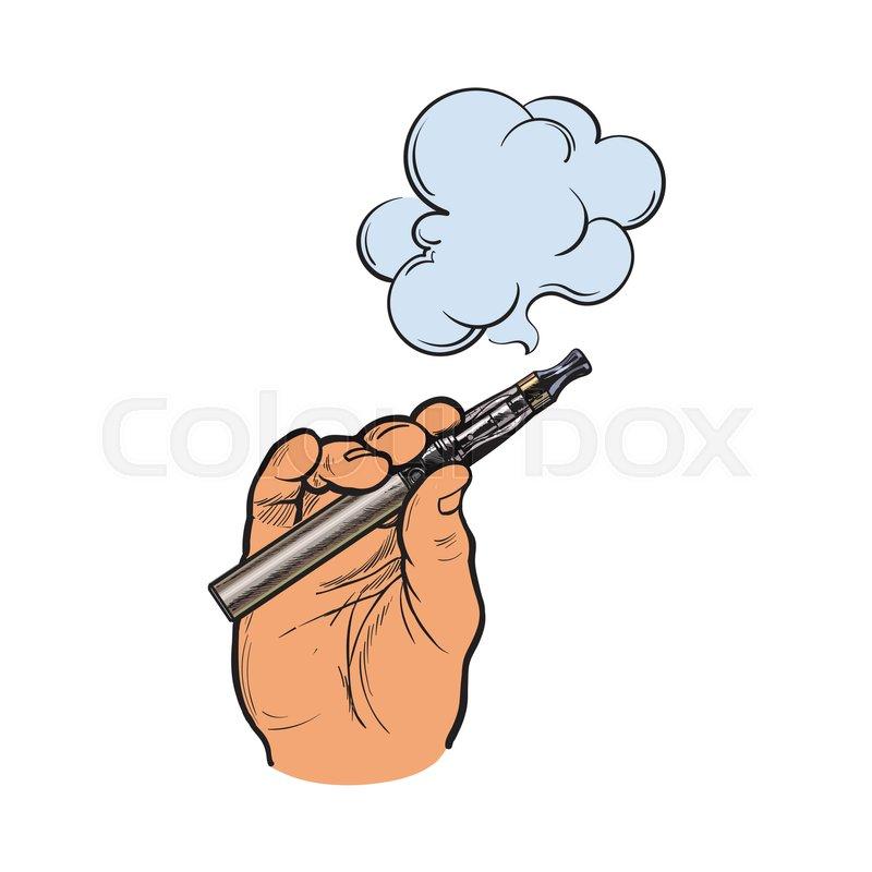 800x800 Male Hand Holding E Cigarette, Electronic Cigarette, Vapor