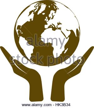 300x345 Two Hands Holding Globe Icon Drawn In Chalk Stock Vector Art