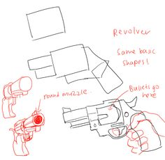 236x230 How To Draw Anime Weapons Both Hand Holding A Gun Or Rifle Art