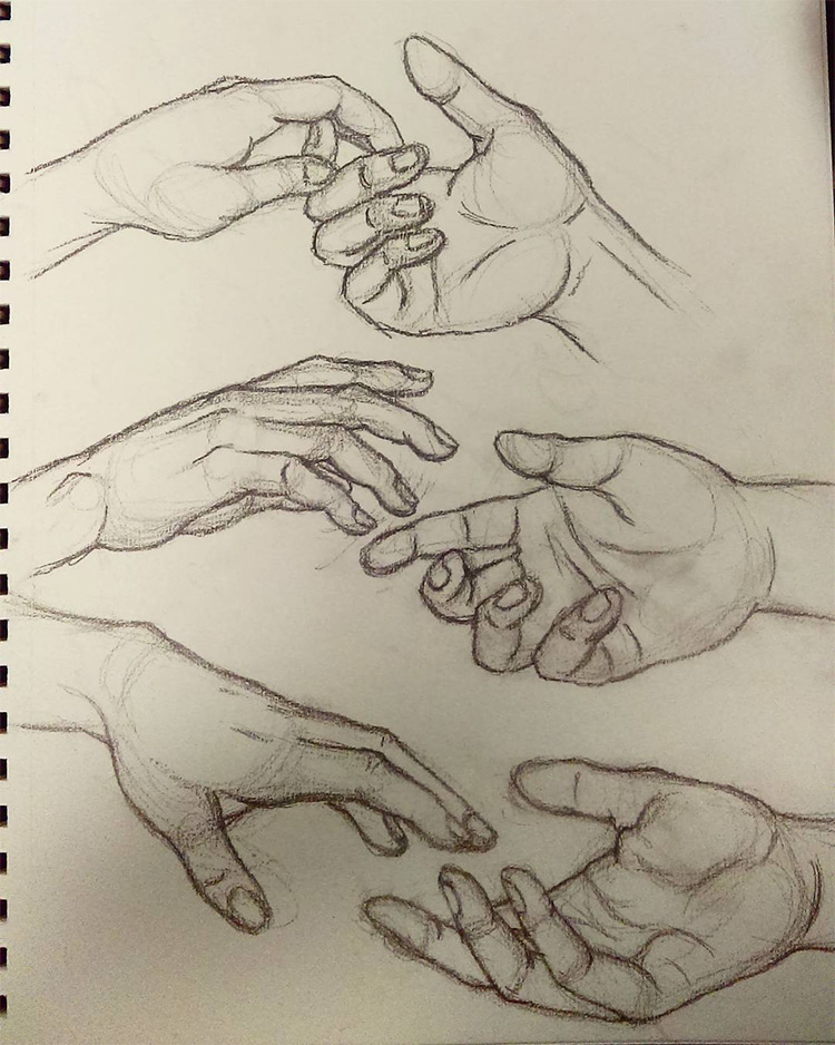 750x938 Drawings Of Hands Quick Sketches Amp Hand Studies