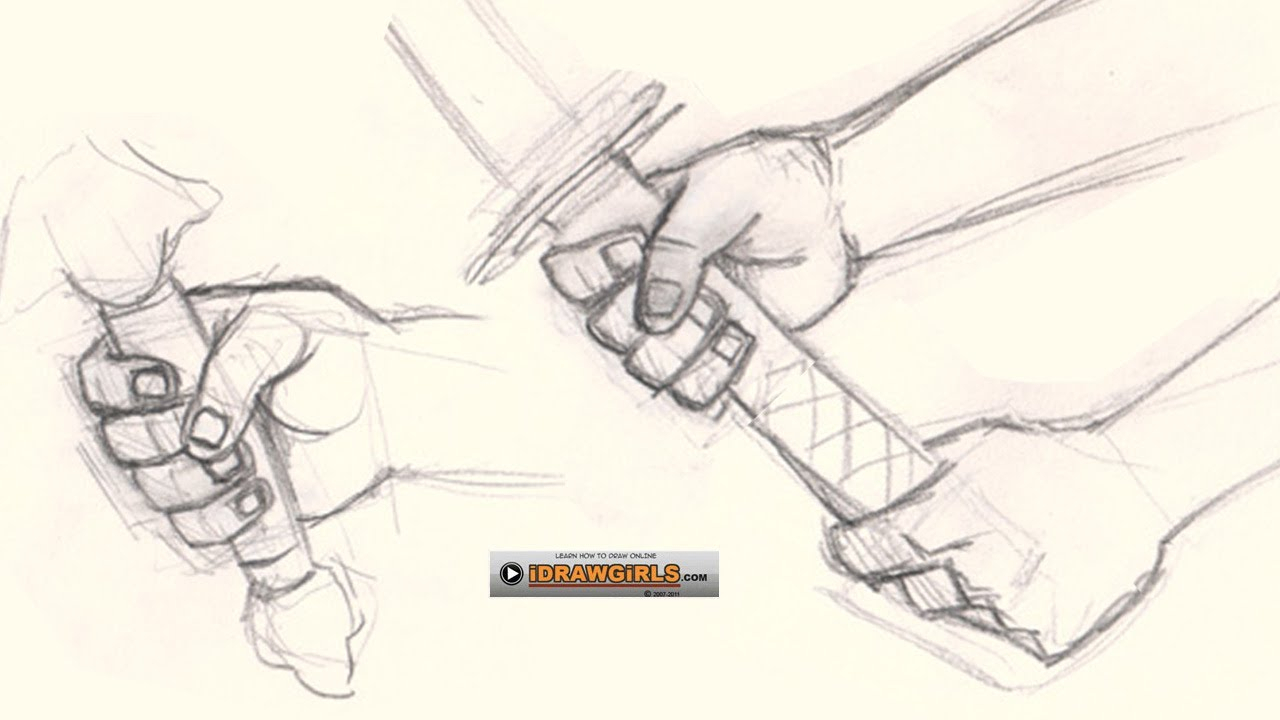 1280x720 Holding Hands Draw How To Draw Hand Holding Sword