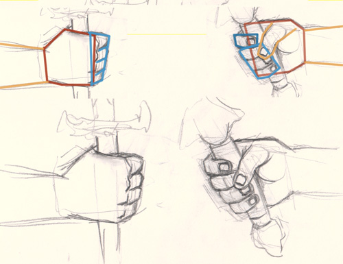 500x385 How To Draw Hand Holding Sword