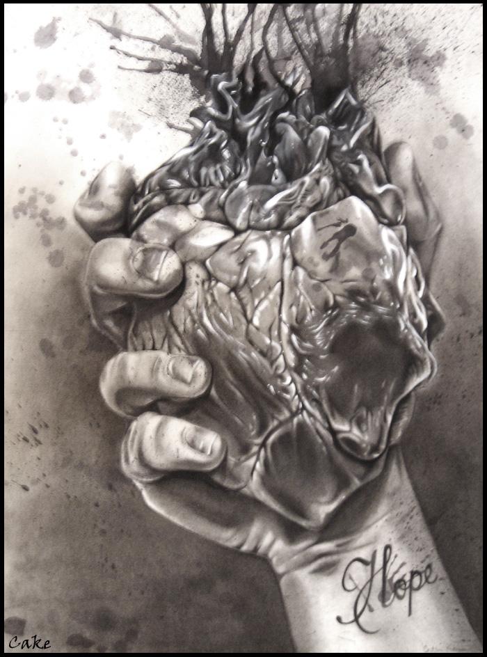 700x944 Ink Heart By Cakekaiser