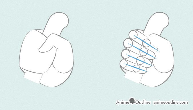 675x383 6 Ways To Draw Anime Hands Holding Something Anime Outline
