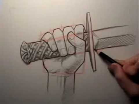 480x360 How To Draw A Hand Holding A Sword