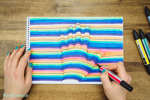 640x425 How To Draw A 3d Optical Illusion Of Your Hand