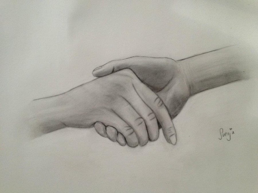 900x673 Hand In Hand Sketch By Svenja By Lady1985