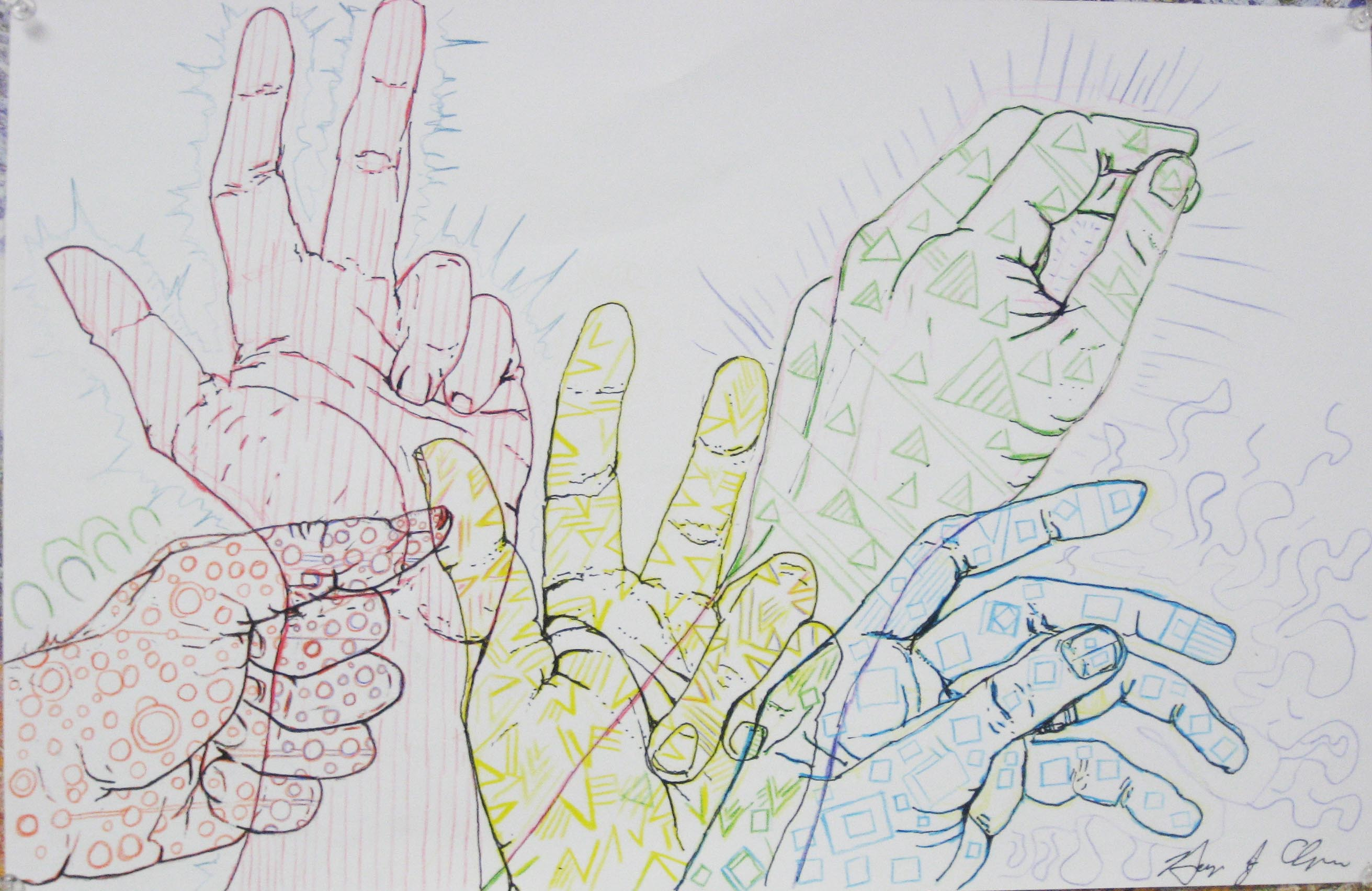 2623x1704 Line Drawings Drawing Your Hands Twenty First Century Art