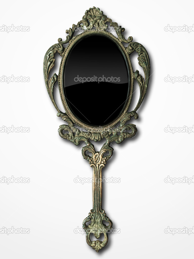 ornate hand mirror drawing. 768x1024 Antique Hand Mirror Drawing Ornate 5