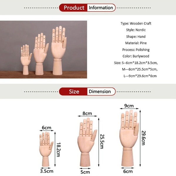 600x600 Home Home Fashion Creative Wooden Craft Joints Of Hand Model