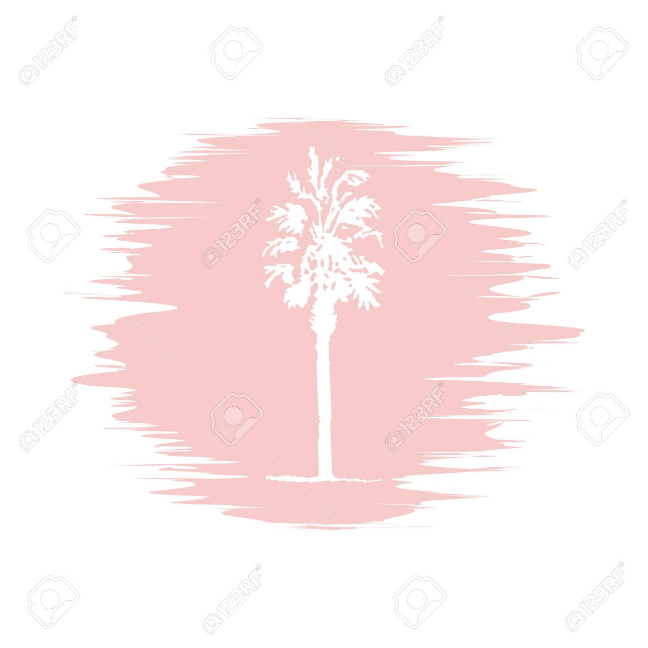 1300x1300 Hand Drawing Sketch Of Palm Tree On Blur Background Royalty Free