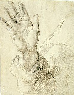 250x319 Raphael Upraised Right Hand With Palm Facing Outward (1518 20