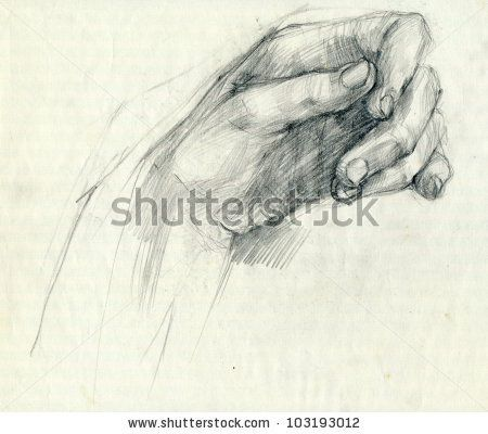 450x400 Stock Photo Drawing. Hands