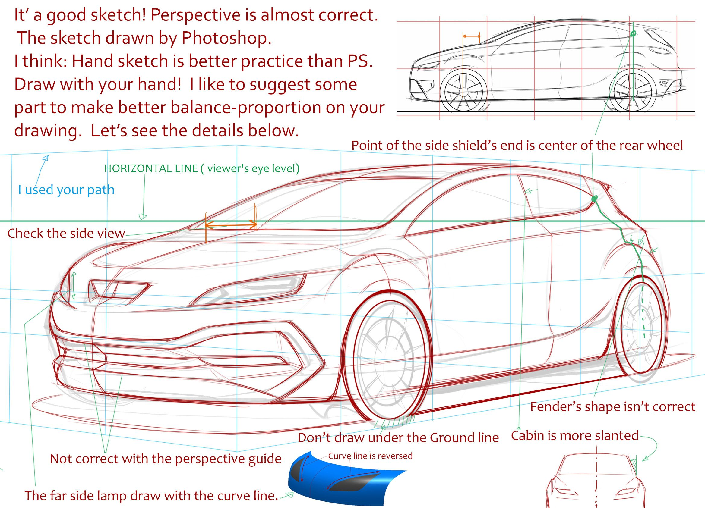 2338x1686 Perspective Is Almost Correct However Hand Drawing Is Better