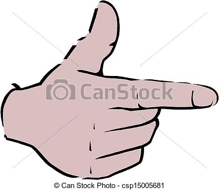 450x390 Pointing Hand (Point Finger) Vector