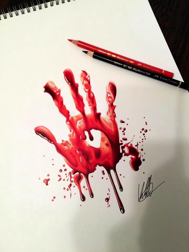 720x960 Bloody Handprint By Clarke Art