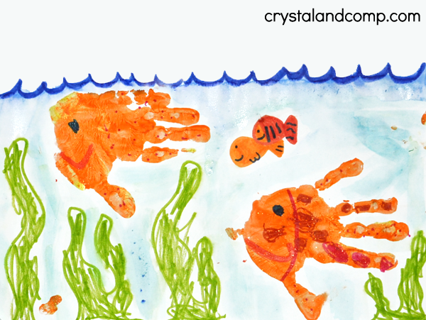 600x451 Hand Print Art U Is For Underwater