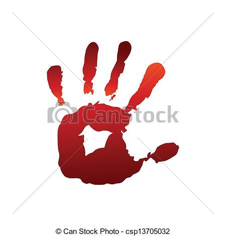 450x470 Red Hand Print Vectors