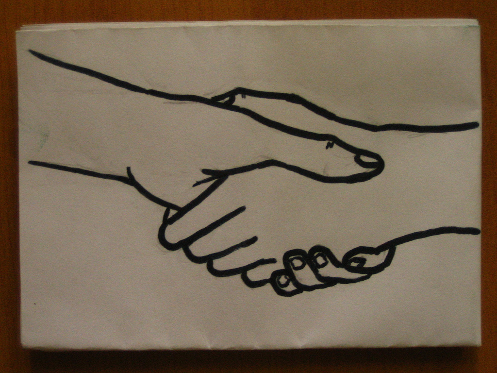 1024x768 Shaking Hands This Is A Picture I Drew. Due To Popular