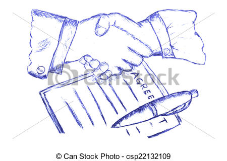 450x320 Two Hand Shaking After Make A Business Agreement Vector Clipart