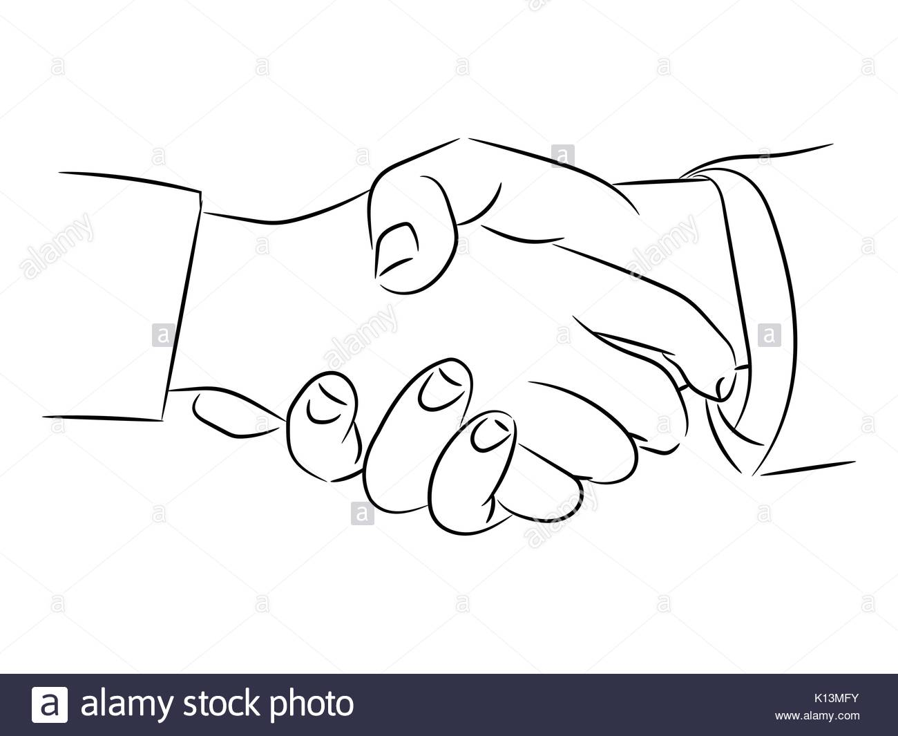1300x1065 Isolated Of Hand Drawing Of Handshaking Vector Illustration Stock