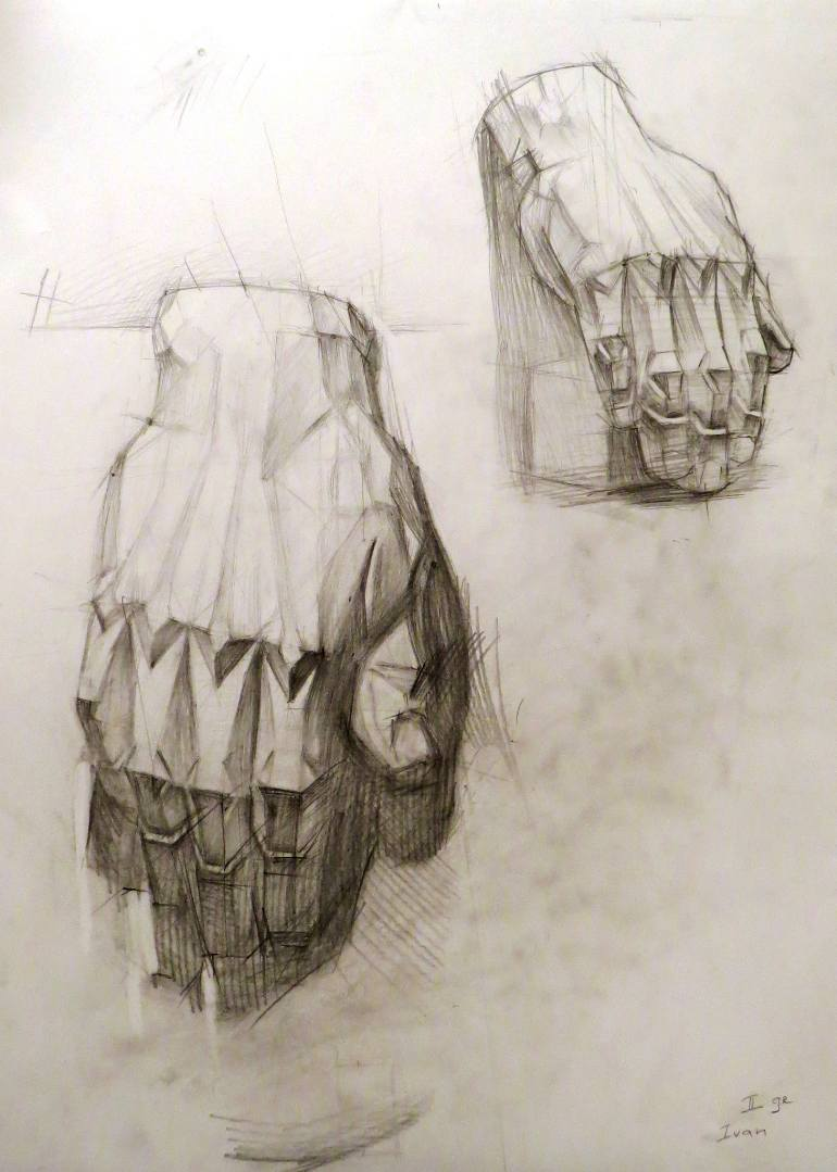 770x1079 Saatchi Art Academic Drawing Study. Hand. Drawing By Ivan Onnellinen