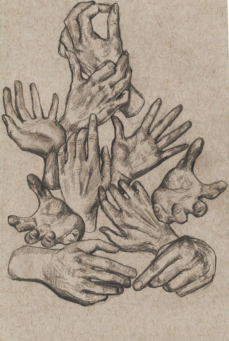 770x1145 Saatchi Art Hand Study Drawing By Justine Johnson