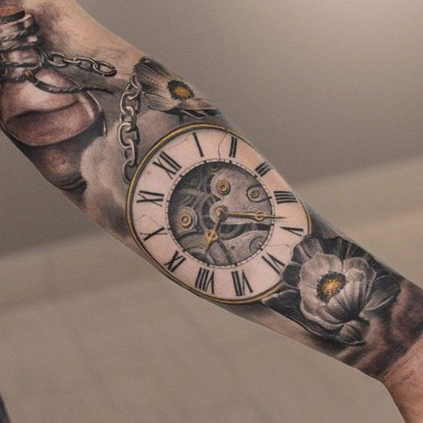 600x600 100 Awesome Watch Tattoo Designs Watch Tattoos, Pocket Watch