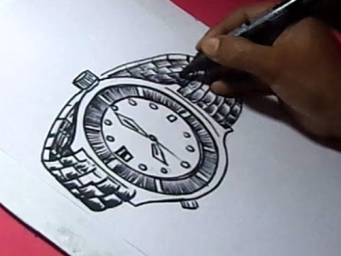480x360 How To Draw Hand Watch Drawing For Kids