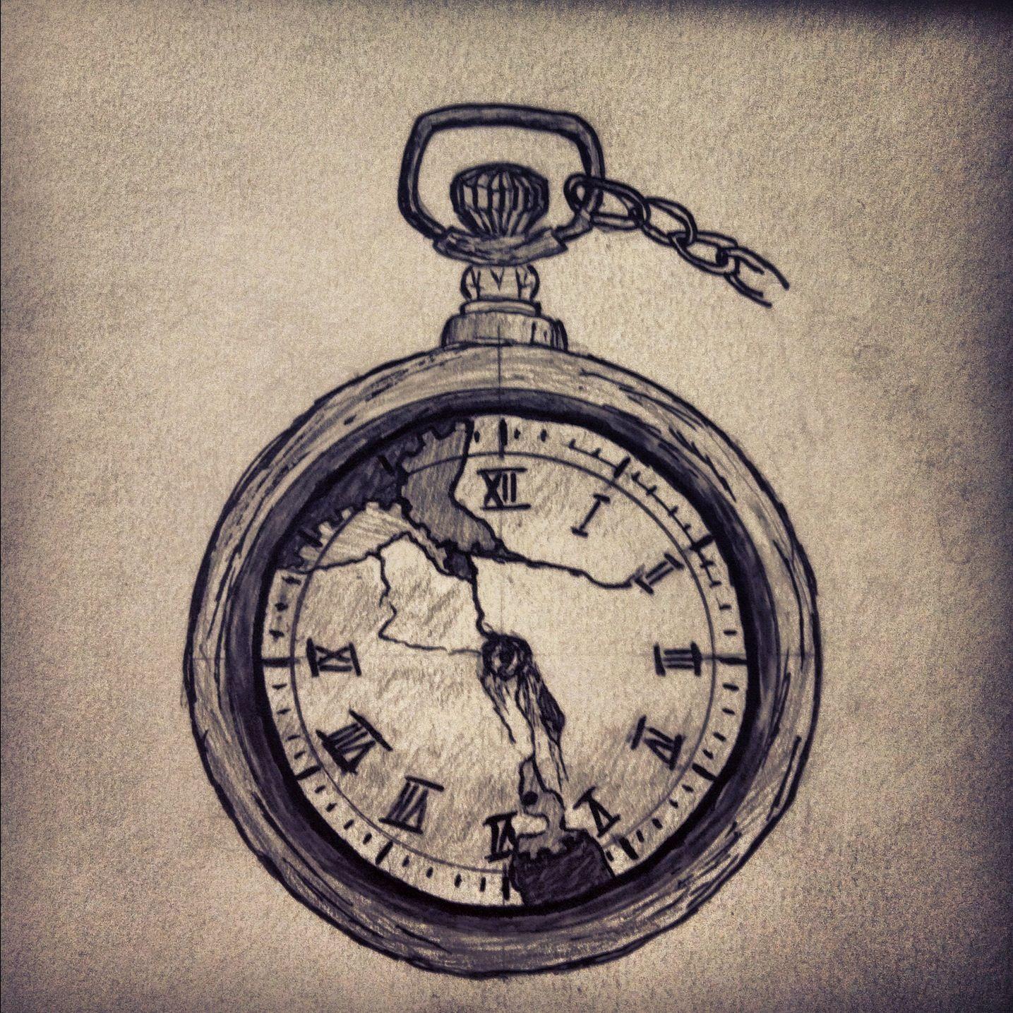 1435x1435 Pocket Watch Tattoo