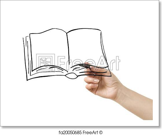 560x470 Free Art Print Of Hand With Pencil Drawing Freeart Fa20050685