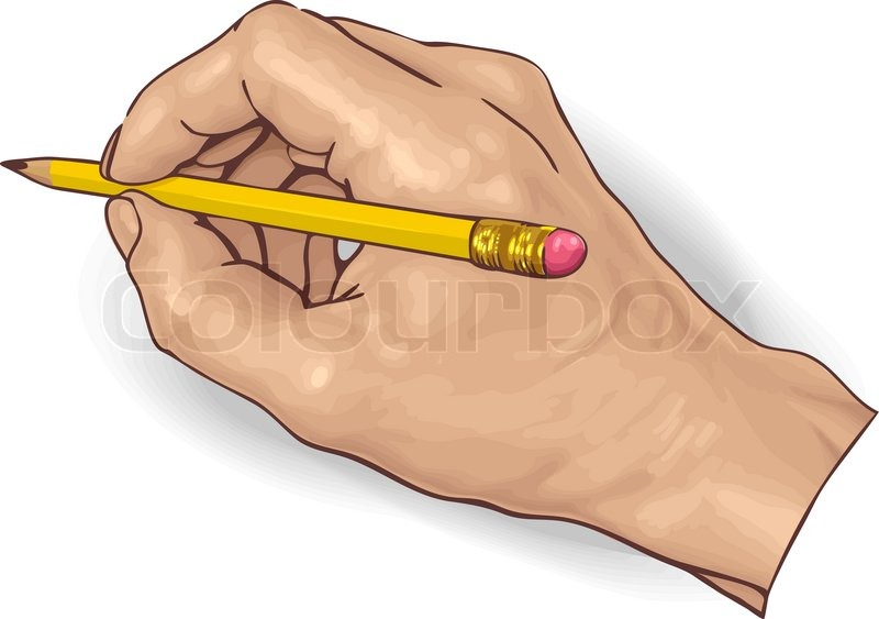 800x563 Vector Illustration Of An Hand Drawing With A Pencil. Stock