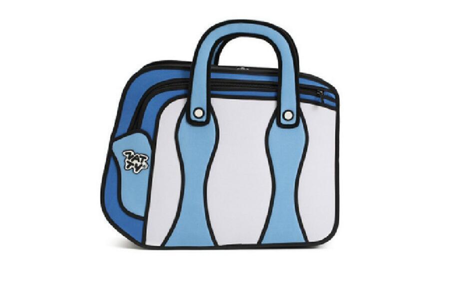 931x611 2017 3d Drawing Cartoon Comic Lady Shoulder Handbag