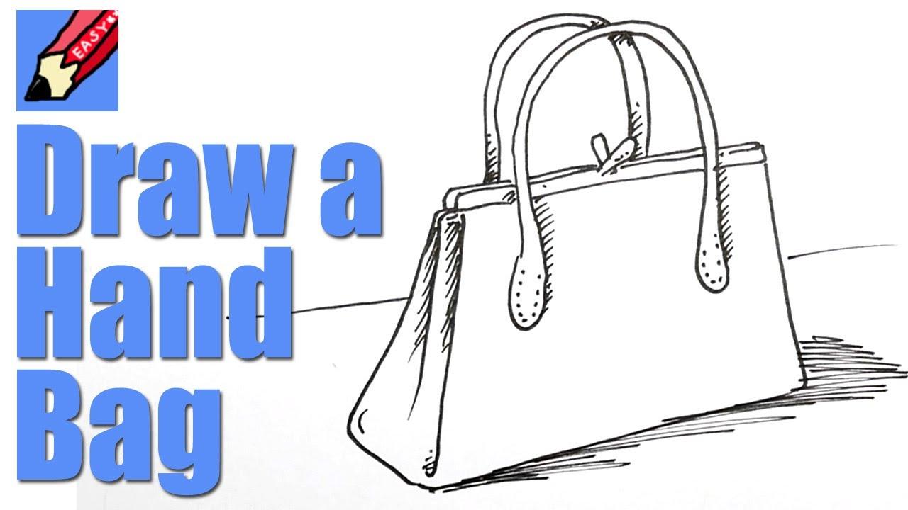 1280x720 How To Draw A Handbag Real Easy