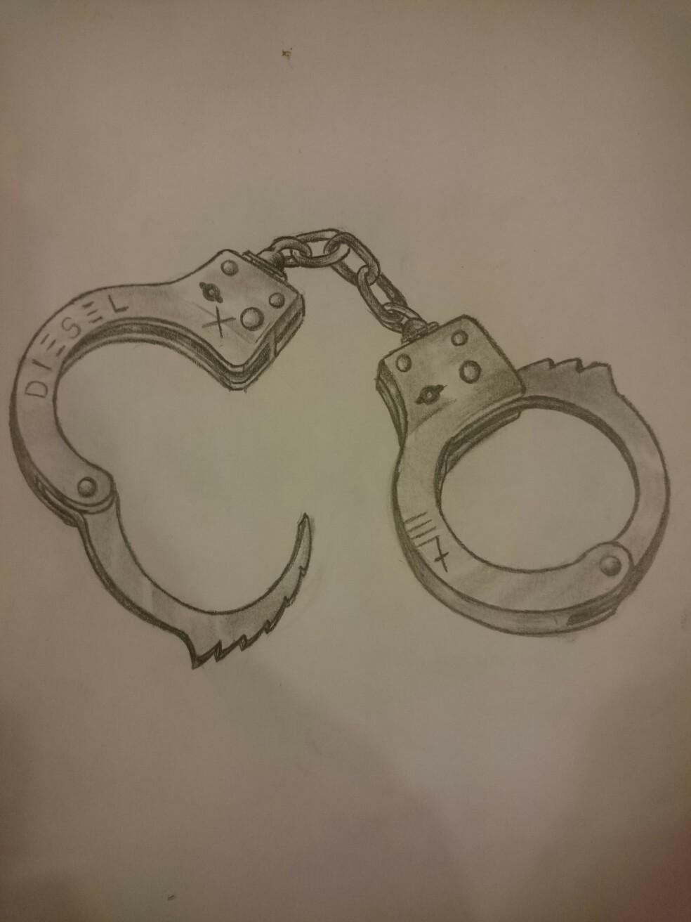 984x1312 Drawing handcuffs