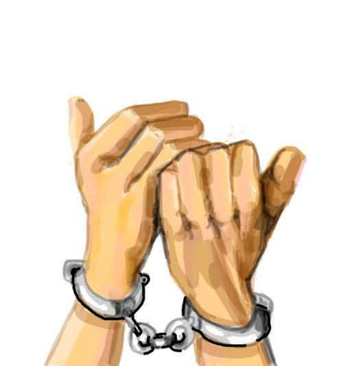 500x534 Handcuff Drawings
