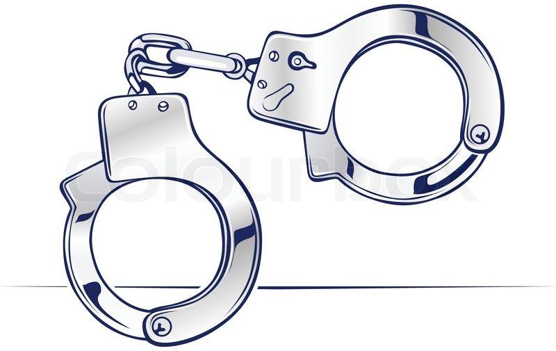 800x505 Lock Steel Handcuffs Icon In Vector Stock Vector Colourbox